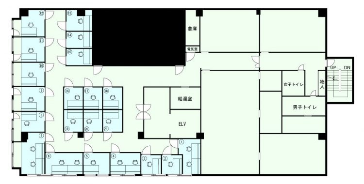 板橋 西台オフィスの3Fのフロアマップ