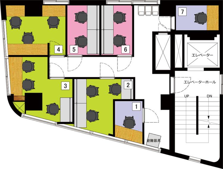 秋葉原 岩本町オフィスの3Fのフロアマップ