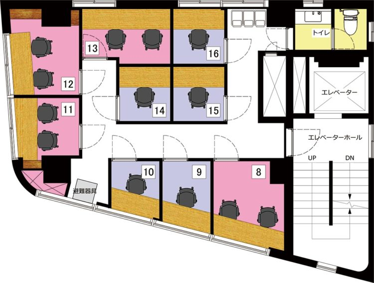 秋葉原 岩本町オフィスの4Fのフロアマップ