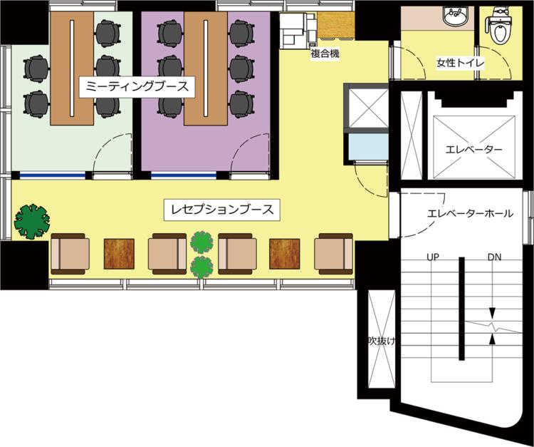 秋葉原 岩本町オフィスのM2Fのフロアマップ