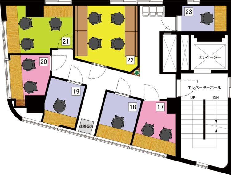 秋葉原 岩本町オフィスの5Fのフロアマップ