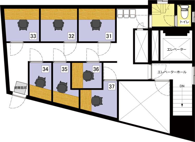 秋葉原 岩本町オフィスの7Fのフロアマップ