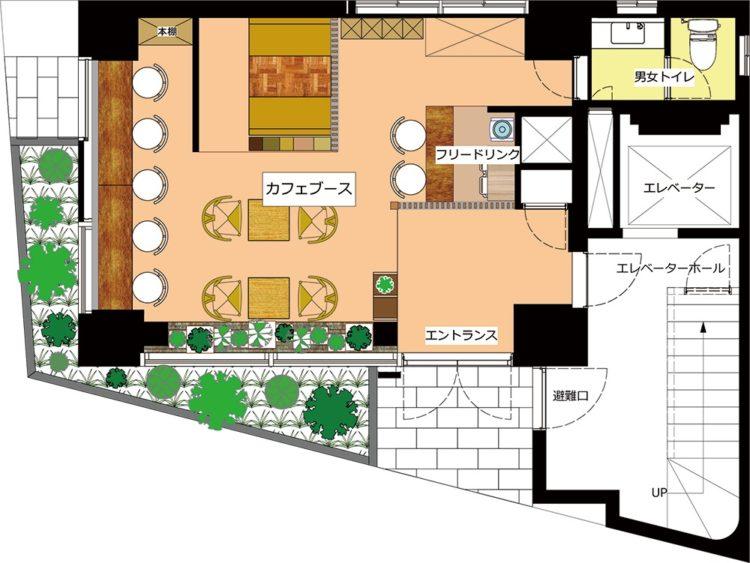 秋葉原 岩本町オフィスの1Fのフロアマップ