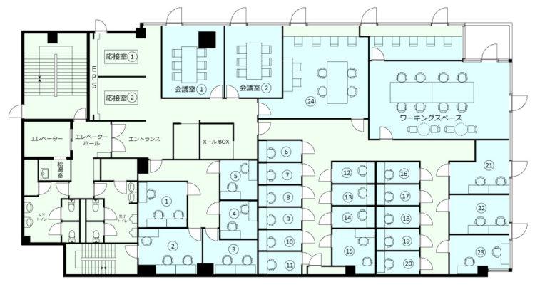 大塚オフィスの5Fのフロアマップ