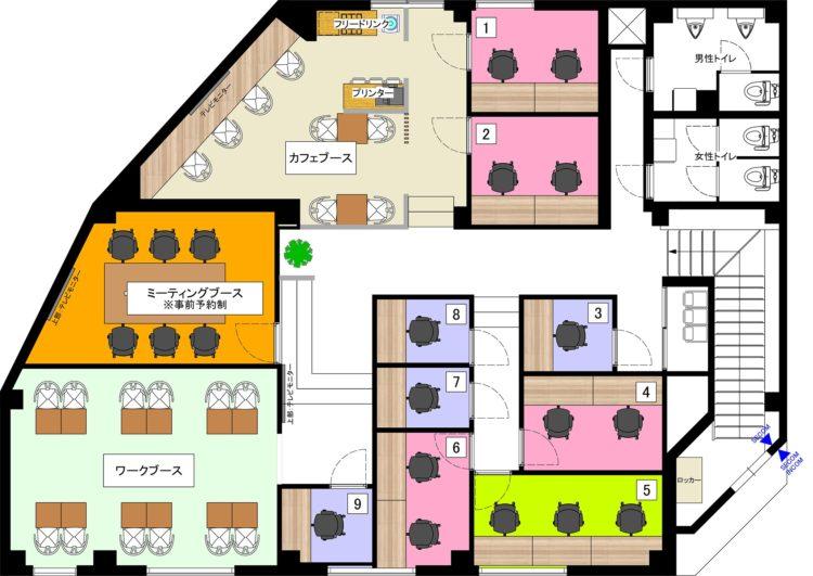 葛飾青砥オフィスの2Fのフロアマップ