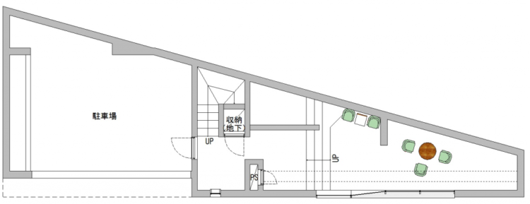 渋谷東オフィスの1Fのフロアマップ