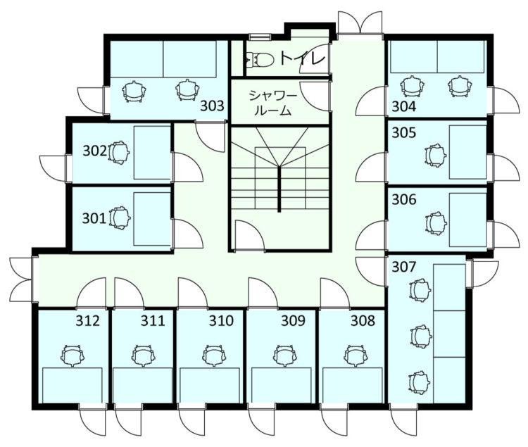 西荻南オフィスの3Fのフロアマップ