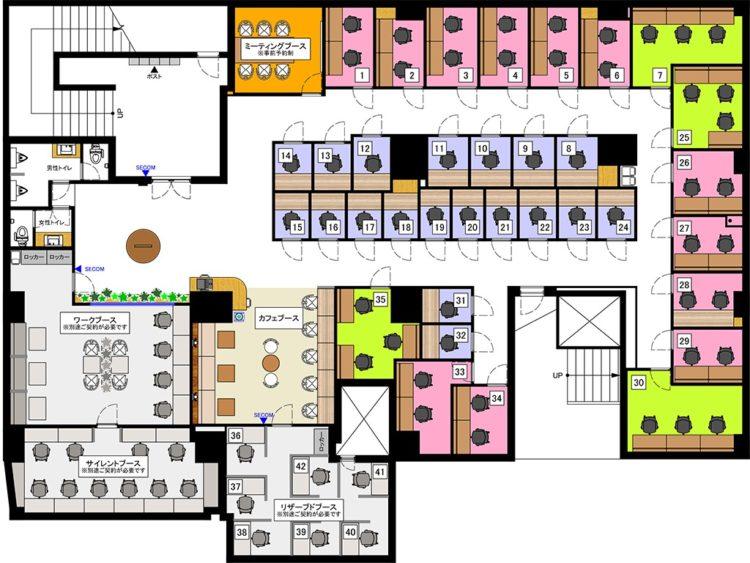 蒲田オフィスのB2Fのフロアマップ