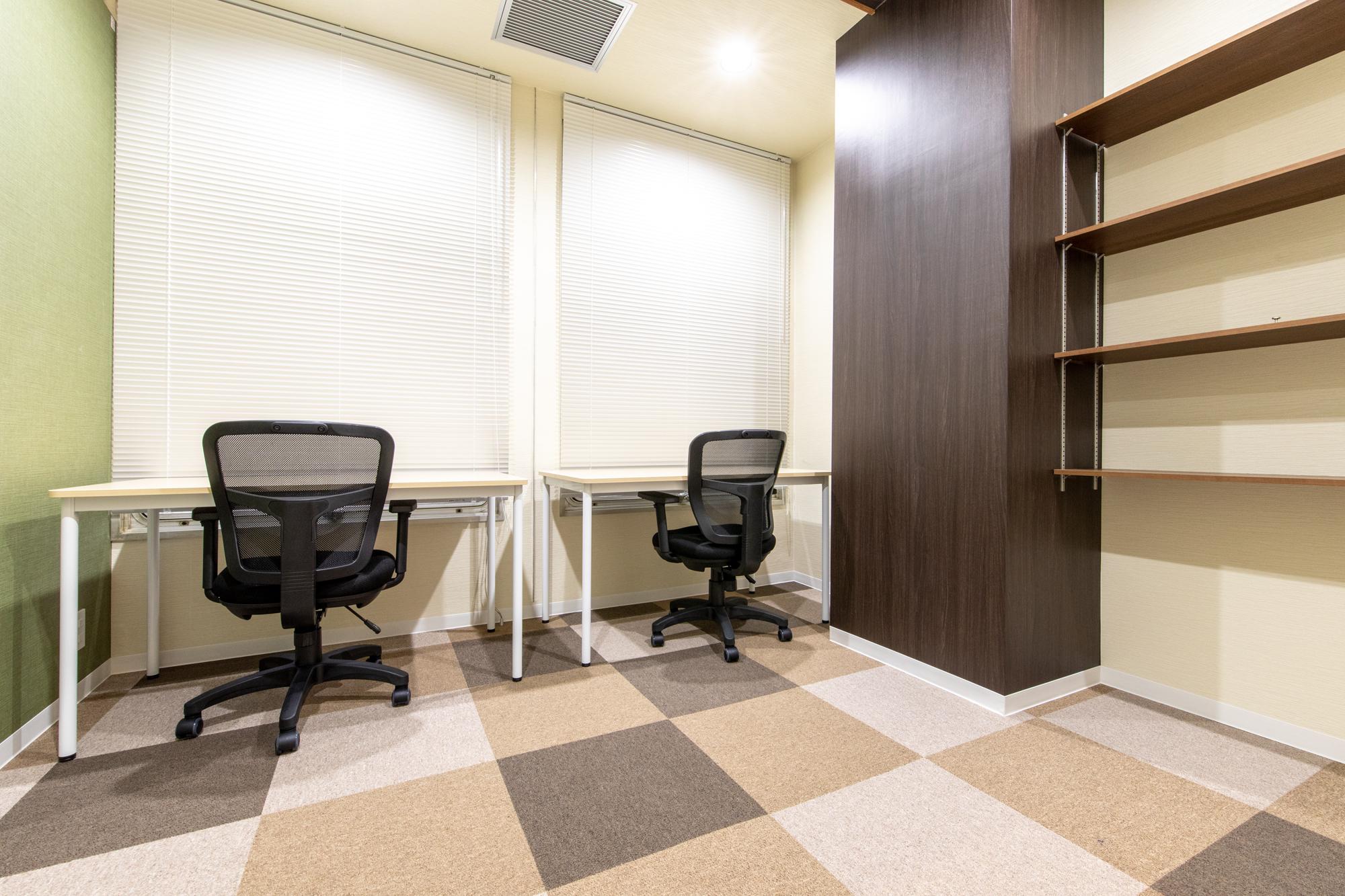 2名用完全個室:月額使用料42,000円~ 一人で広く使うもよし、お二人で使うもよし!利用用途は色々