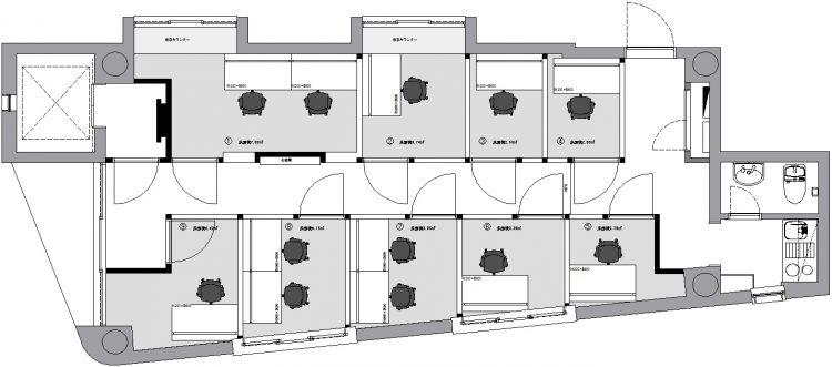 御茶ノ水オフィスの4Fのフロアマップ