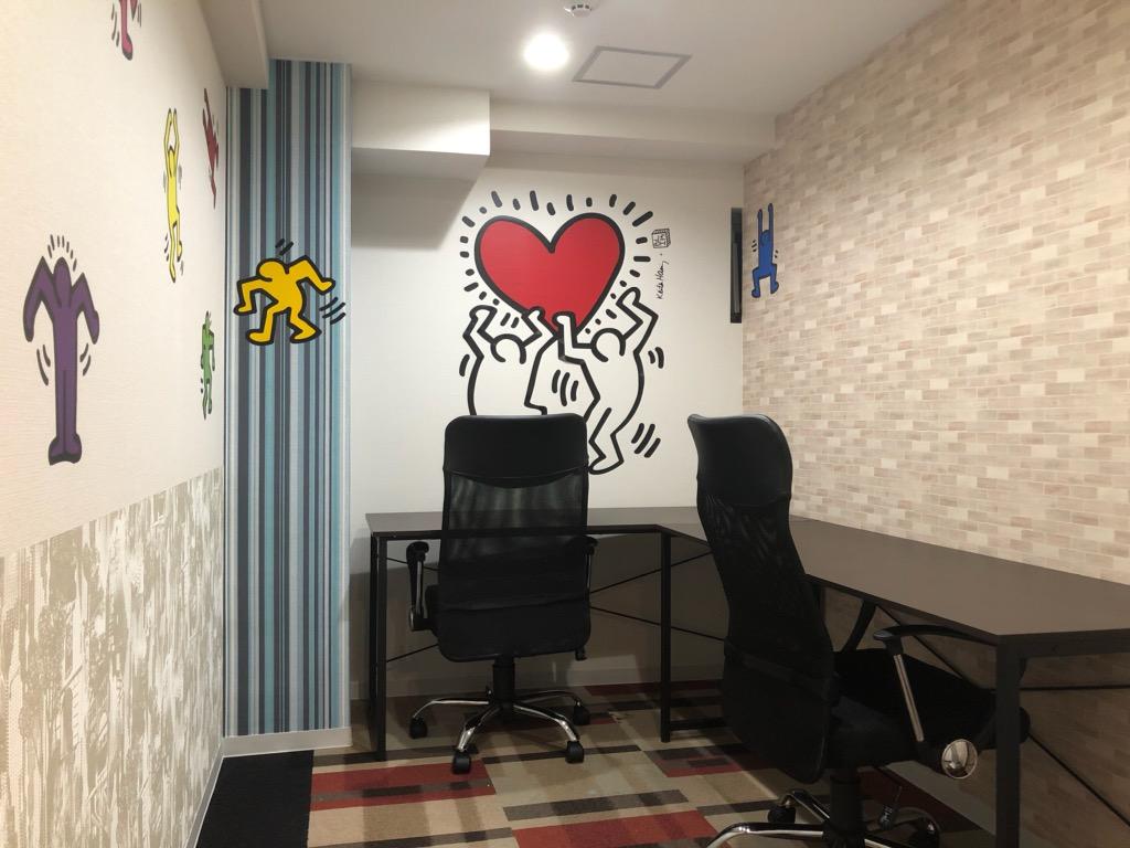 デザインを加えた完全個室の2名用用オフィス