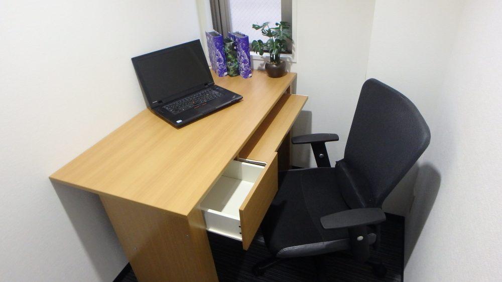 1名用のオフィスで快適空間でビジネス!!