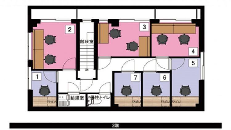 神楽坂 天神オフィスの3Fのフロアマップ