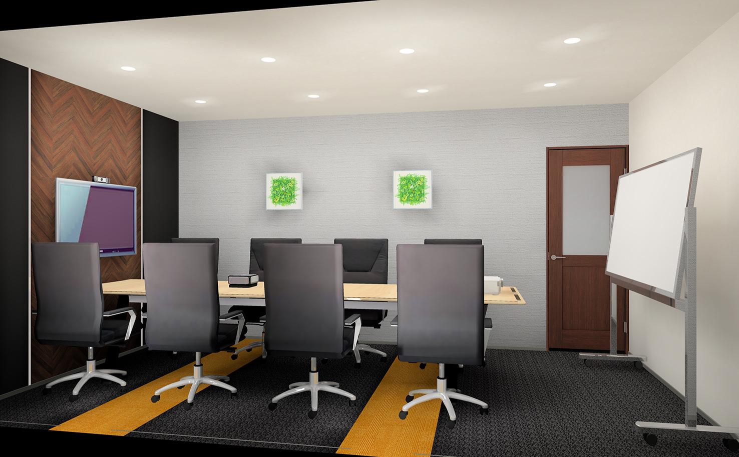 「会議室」大型モニターとWEBカメラ付き