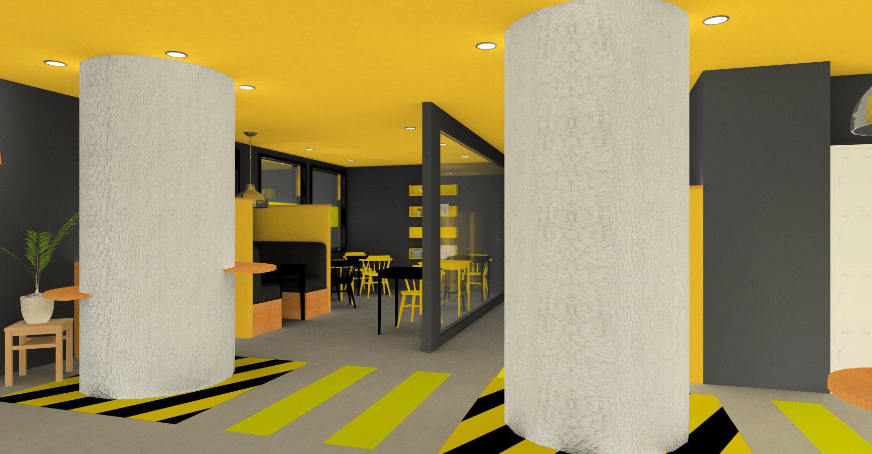 黒と黄色を基調としたコンセプトはモダンビンテージスタイル!※イメージです