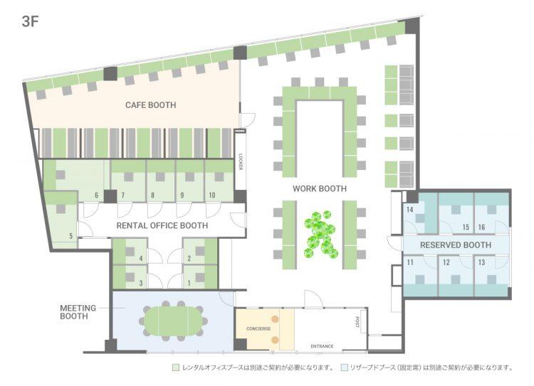 南町田オフィス(グランベリーパーク)のL302のフロアマップ