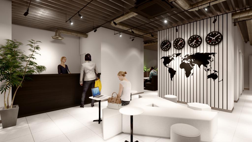 """遊び心あるBIZcircleのオフィス。今回のコンセプトは""""Departure"""