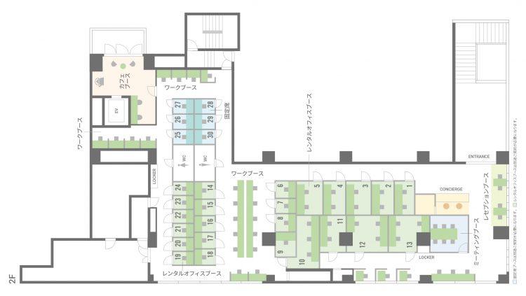 BIZcomfort仙台一番町(サンモール)の2Fのフロアマップ