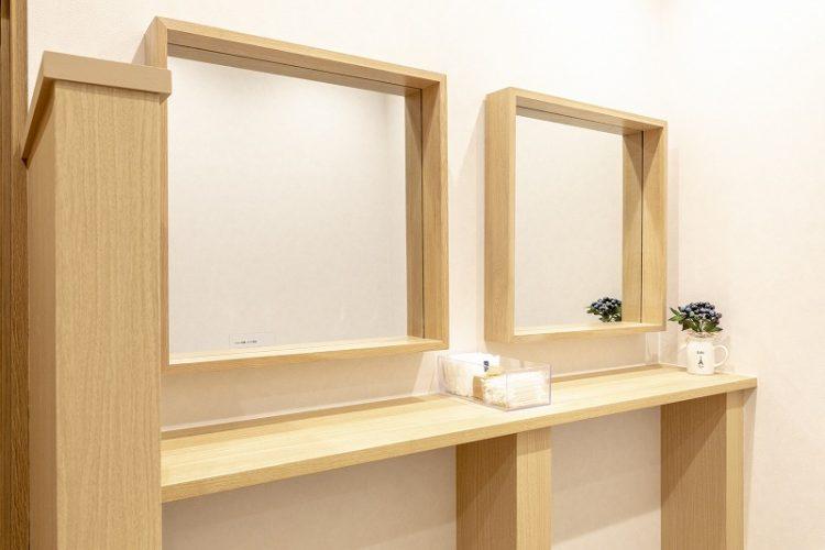 町田オフィスの女性用トイレアメニティ