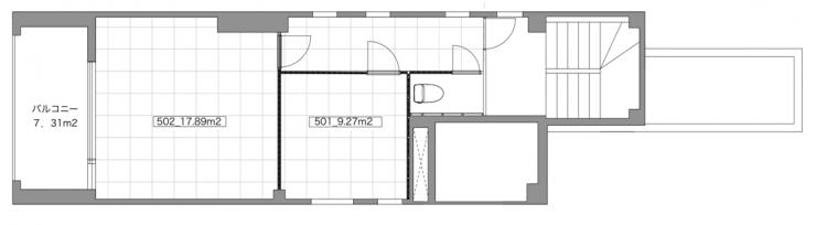 PRIME OFFICE 東神田の5Fのフロアマップ