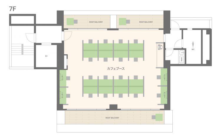 日本橋人形町オフィスの7Fのフロアマップ