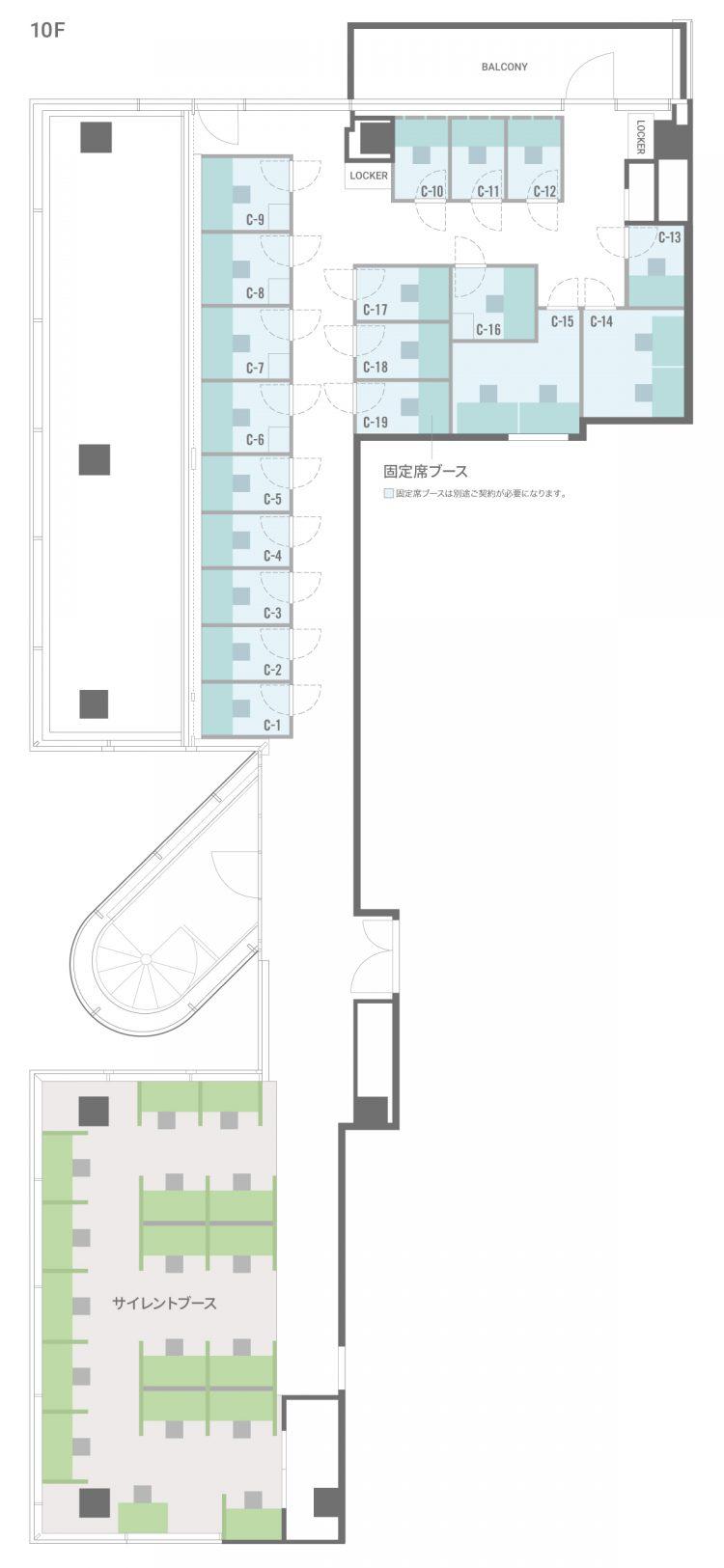 BIZcomfort三条木屋町【7月1日オープン】の10Fのフロアマップ