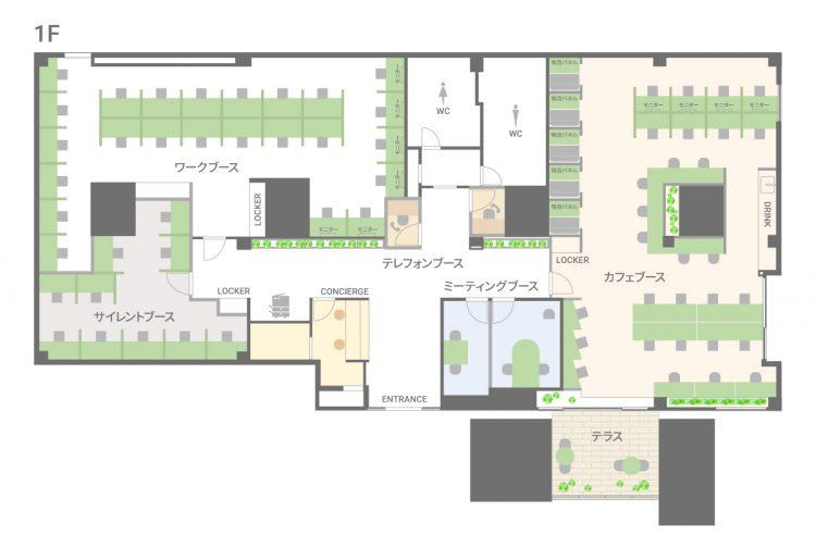 BIZcomfort八千代緑が丘【2021年9月24日OPEN予定】の1Fのフロアマップ